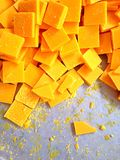 O grupo de cera amarela como o fundo Foto de Stock Royalty Free