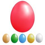 Grupo de ovos da cor Ilustração do Vetor
