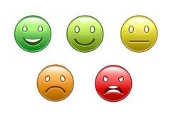 O grupo de cor sorri com expressões diferentes Imagens de Stock