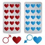 Comprimidos do amor Imagens de Stock