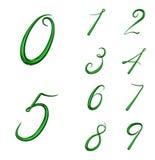O grupo de 3d numera de 0 a 9 Imagens de Stock