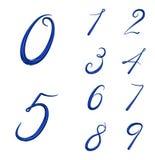 O grupo de 3d numera de 0 a 9 Foto de Stock Royalty Free