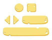 O grupo de desenhos animados abotoa elementos do GUI do vetor ilustração royalty free