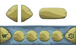 O grupo de desenhos animados abotoa-se com formas diferentes, elementos do GUI do vetor ilustração do vetor