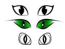 O grupo de desenhos animados eyes, grupo cômico para desenhos animados Foto de Stock