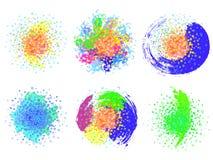 O grupo de elementos com círculos Imagem de Stock