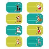 O grupo de elementos do vetor para o Natal e o ano novo projetam Fotografia de Stock Royalty Free