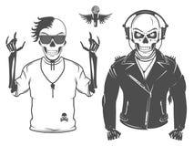 O grupo de estrela do rock and roll para camisas de t e a tatuagem projetam Imagens de Stock