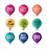 O grupo de etiquetas multa cores Fotos de Stock Royalty Free