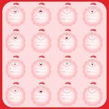 O grupo de feriados vector cartões com lugar para seu texto Imagens de Stock Royalty Free