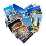 O grupo de fotos de Italia arranjou no quadro Imagens de Stock Royalty Free