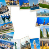 O grupo de fotos de Italia arranjou no quadro Fotografia de Stock Royalty Free