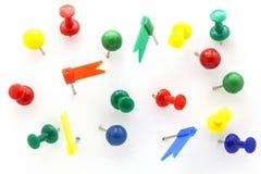 O grupo de impulso colorido da cor fixa a vista superior isolado no backg branco Fotografia de Stock