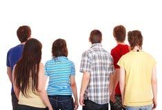 O grupo de jovens parte. imagens de stock royalty free