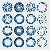 O grupo de logotipo da espiral e dos redemoinhos projeta elementos Fotos de Stock