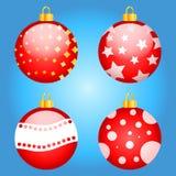 O grupo de Natal multi-colorido brinca o vetor Imagens de Stock