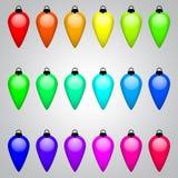 O grupo de Natal multi-colorido brinca o vetor Fotografia de Stock Royalty Free