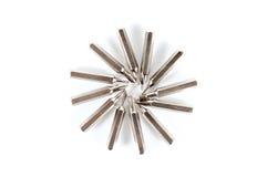 O grupo de nozzels variáveis a usar-se com uma chave de fenda arranja no ci Fotografia de Stock