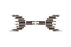 O grupo de nozzels variáveis a usar-se com uma chave de fenda arranja no wr Fotografia de Stock Royalty Free