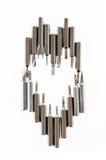 O grupo de nozzels variáveis a usar-se com uma chave de fenda arranja-o dentro Fotos de Stock Royalty Free