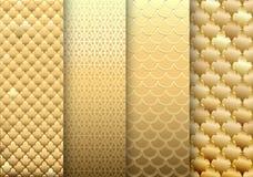 O grupo de ouro textures fundos Imagens de Stock Royalty Free