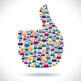 O grupo de pessoas faz como o símbolo Imagem de Stock Royalty Free