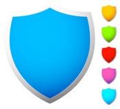 O grupo de protetor dá forma, ícones em 6 cores ilustração do vetor