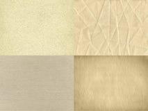 O grupo de quatro texturas de papel do vintage Fotos de Stock Royalty Free