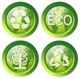 O grupo de recicl botões Imagens de Stock