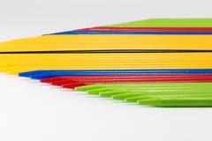 O grupo de recolhimento colorido cola o lugar de lado a lado fotografia de stock