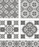 O grupo de retângulo e o quadrado formam testes padrões decorativos Imagem de Stock