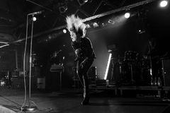 O grupo de rock das matanças executa no concerto no clube do Razzmatazz Fotos de Stock Royalty Free
