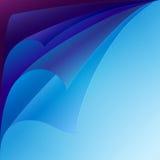 O grupo de roxo e de azul ondulou os cantos de papel com ilustração stock