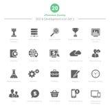 O grupo de SEO e de ícones do desenvolvimento ajustou 2 Foto de Stock