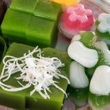 O grupo de sobremesa doce tailandesa Fotos de Stock
