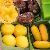 O grupo de sobremesa doce tailandesa Fotografia de Stock
