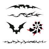 O grupo de testes padrões ao estilo da tatuagem Imagens de Stock