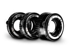 O grupo de três nenhuns tubos macro do tipo fecha-se acima Fotografia de Stock Royalty Free