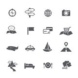 O grupo de turismo e o curso traçam o illustratio do vetor do ícone da navegação Imagens de Stock Royalty Free