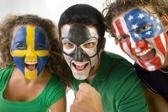 O grupo de ventiladores felizes Imagem de Stock