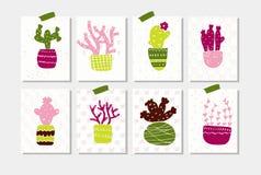 O grupo de verão etiqueta etiquetas bonitos do verão para envolver presentes Fotografia de Stock