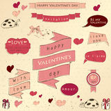 O grupo de vintage deign elementos sobre o amor. Fotografia de Stock Royalty Free