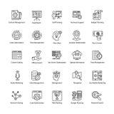 O grupo de Web e Seo alinham ícones do vetor Fotos de Stock Royalty Free