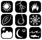 O grupo do ícone dos elementos imagem de stock royalty free