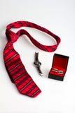 O grupo do cavalheiro: laço, relógios e botão de punho Imagem de Stock Royalty Free