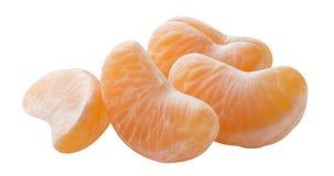 O grupo do mandarino segmenta horizontal isolado no backgrou branco Imagens de Stock Royalty Free