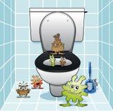 O grupo do toalete Foto de Stock Royalty Free