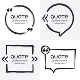 O grupo do vetor de citações forma o molde Imagens de Stock Royalty Free
