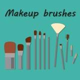 O grupo Make Up escova ícones no fundo Foto de Stock