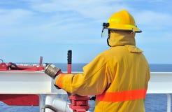 O guarda-fogo a pouca distância do mar Fotografia de Stock